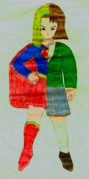 Supergirl, basado del personaje de la Androide 18 de Dragon Ball Z (de Akira Toriyama), hecha por Juan Carlos Quenguan.