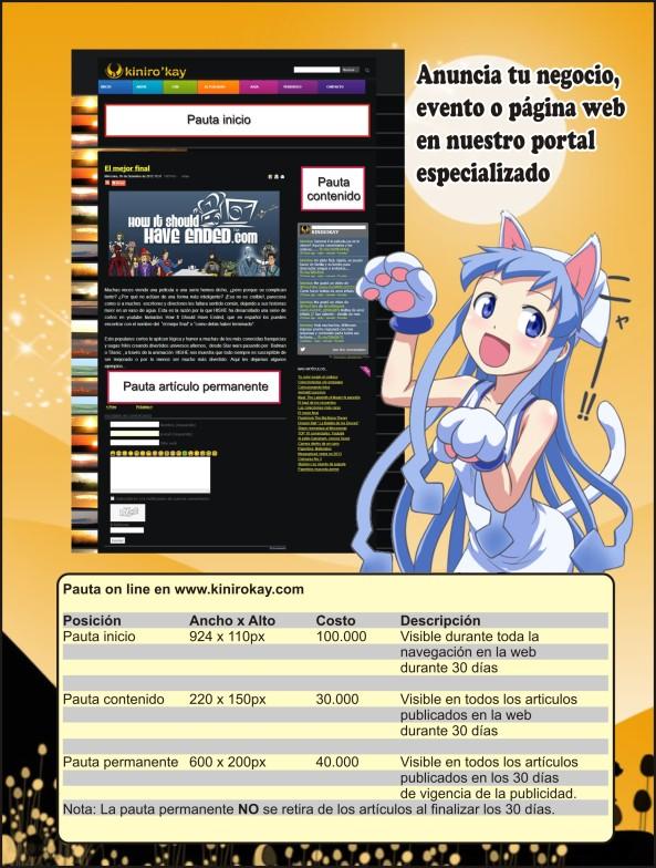 costo pauta web oct 2013