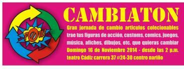 De los mismos organizadores del Salón de los Desterrados, invitaron al primer CAMBIATÓN del mes de noviembre.
