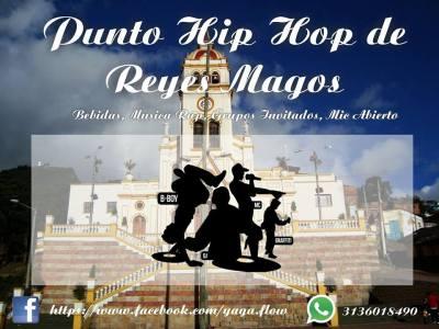Afiche del punto de Yaga Flow en el CENTENARIO DE LA FIESTA DE REYES DEL BARRIO EGIPTO