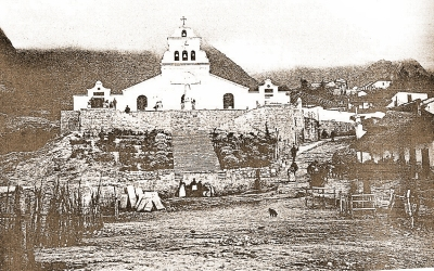 Ermita y plazoleta del Barrio Egipto a inicios del siglo XX
