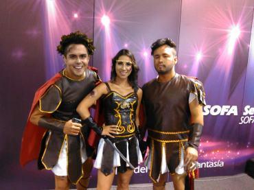Tato, Riva y Mateo, presentadores del programa de televisión El Cuaderno del Canal 13. Foto por: Juan Carlos Quenguan.