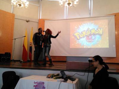 Finalista y ganadora del concurso de karaoke. Foto por: Juan Carlos Quenguan