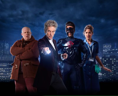 Picture shows: L-R Matt Lucas, Peter Capaldi, Justin Chatwin and Charity Wakefield.