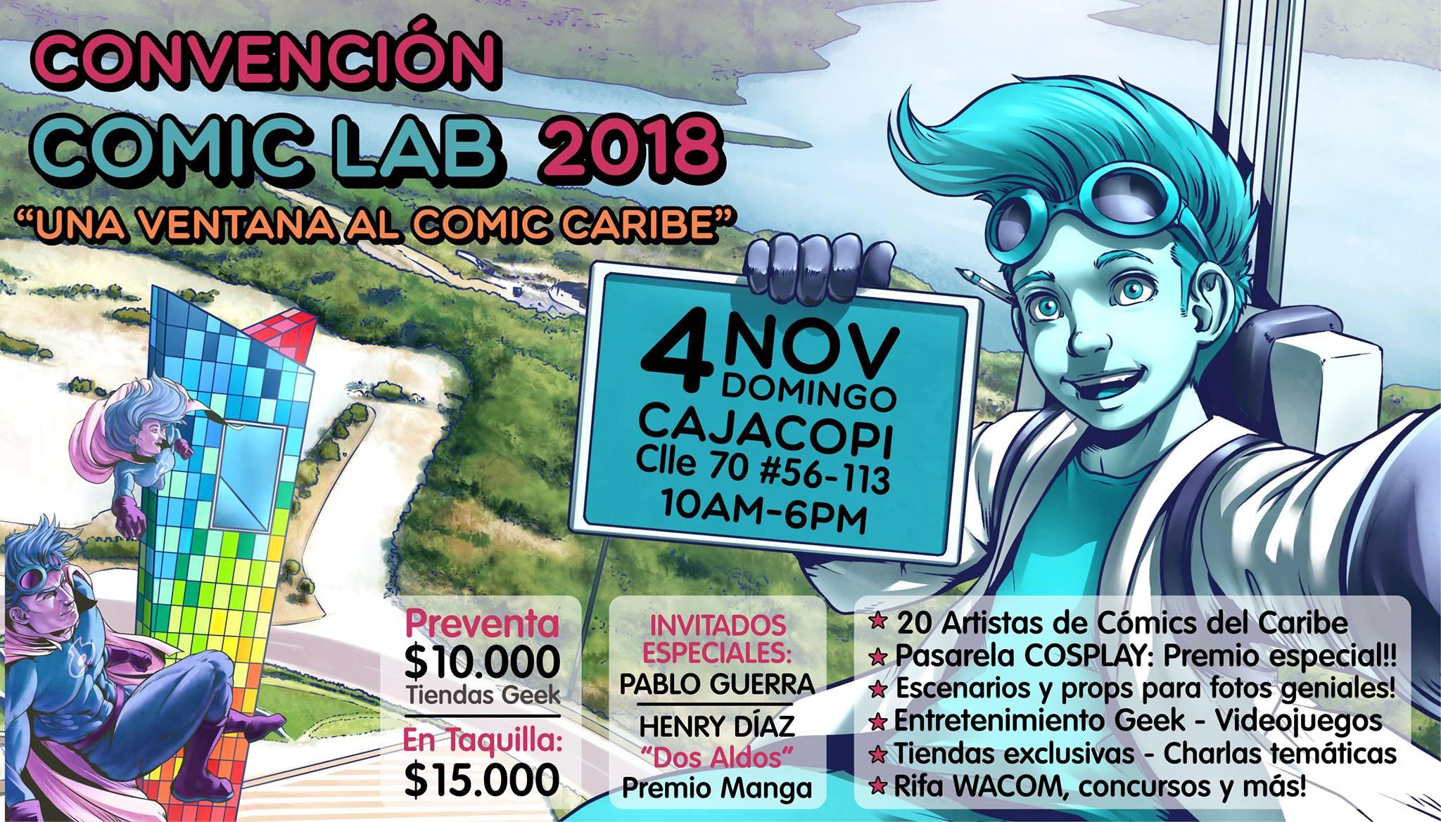 La Convención COMIC LAB 2018 será el primer evento de este tipo en la  ciudad de Barranquilla. Allí bce6dcaf40ed